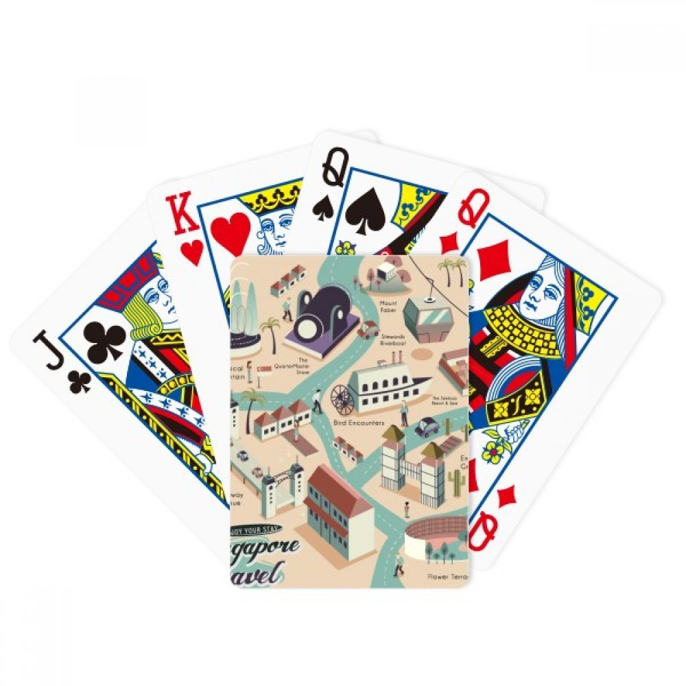 beatChong Singapore Travel Sightseeing Route Poker Playing Card Tabletop Board Game Gift by beatChong