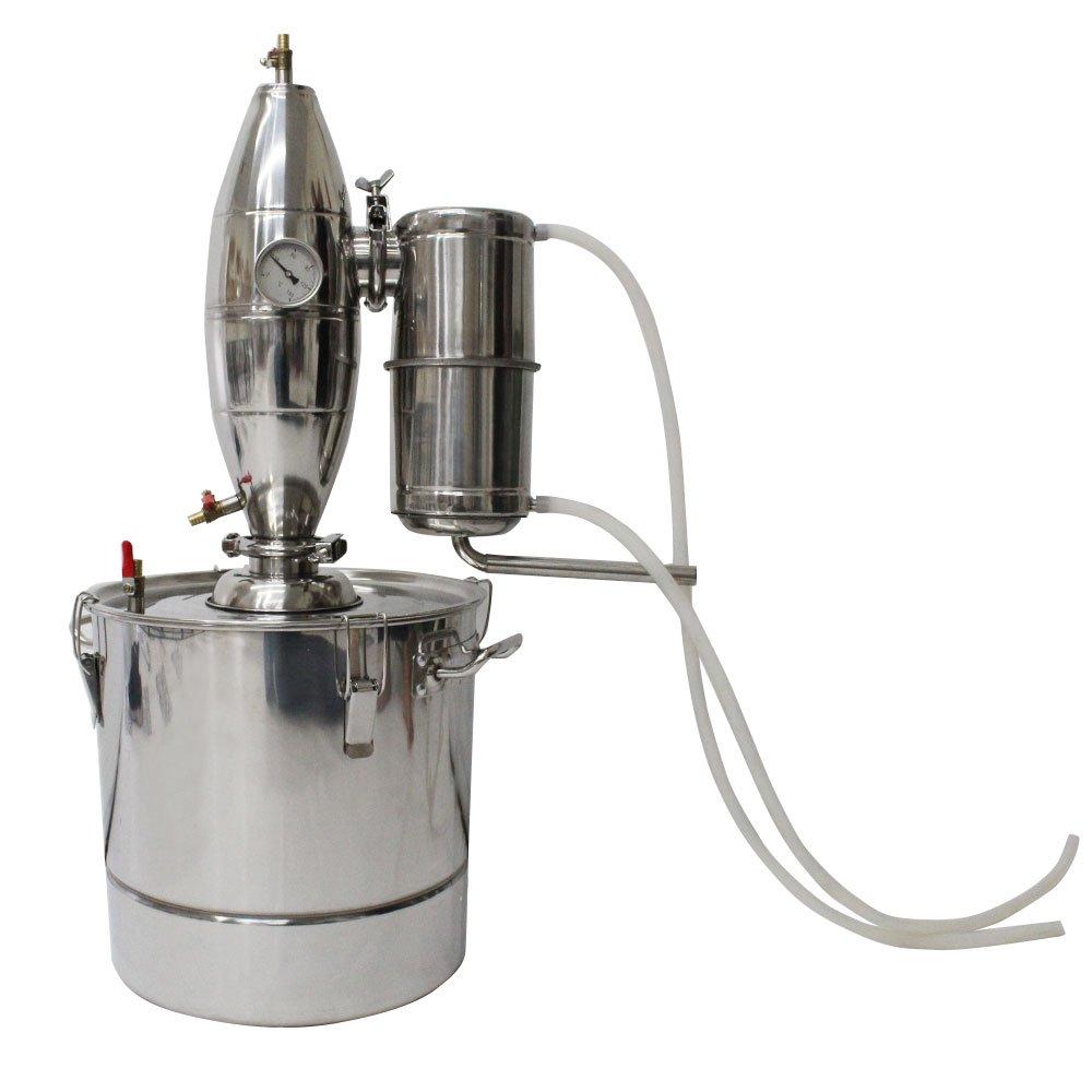 ZXMOTO 30L Wine Making Boiler Stainless Alcohol Distiller Brew Kit