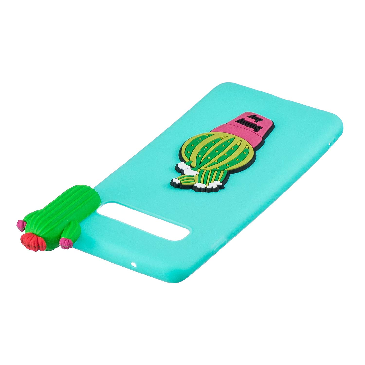TPU Case for Samsung Galaxy S10,Moiky Funny 3D Cactus Design Ultra Thin Soft Silicone Resistant Back Cover Phone Case Unique Style Protect Case by MOIKY (Image #5)