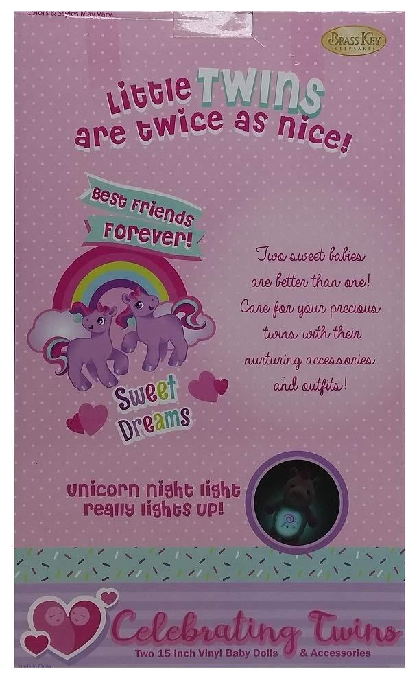 Amazon.com: Celebrating Twins - Juego de muñecas de peluche ...