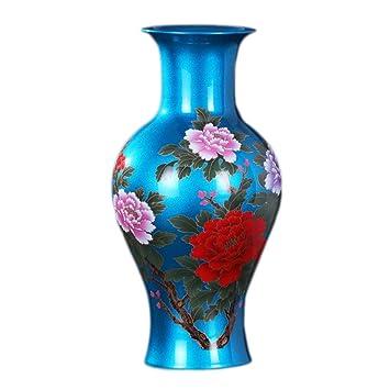 Amazon.com: Jarrón de cerámica con cristales de cristal ...