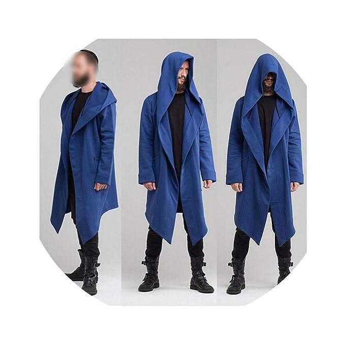 Amazon.com: Mens Hooded Jacket Long Cardigan Ninja Goth ...