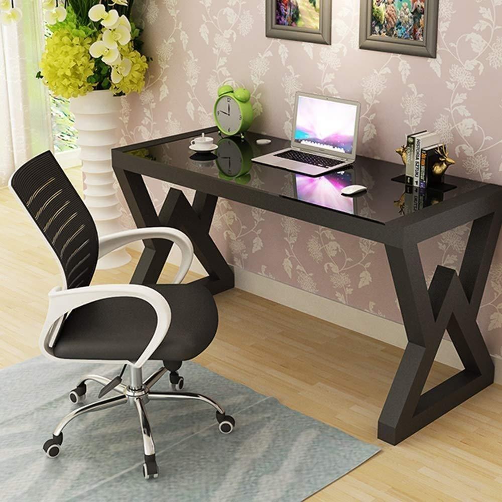 Xiuyun kontorsstol spelstol svängbar stol, datorstol, hushållsnät stol, personalsvängningsstol, lyft rosett studentsäte, (färg: svart) Svart