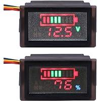 Yeecoo Waterproof LED voltmeter ammeter battery testers DC 12V 24V 36V 48V 60V 72V 84V 96V acidic lead / lithium polymer / lithium iron phosphate / NiMH battery capacity indicator 6-120V multitester