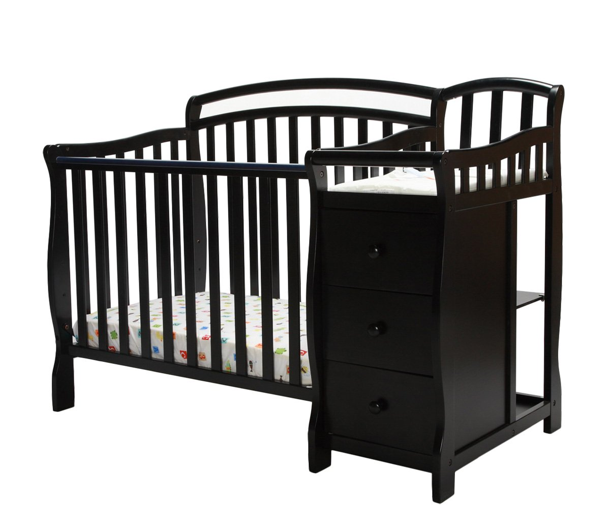 Amazon.com : Dream On Me Casco 3 In 1 Mini Crib And Dressing Table Combo  Black : Nursery Furniture Sets : Baby