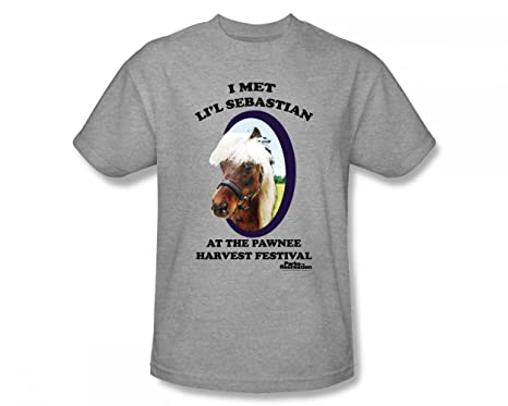 b82d1df589c Parks   Recreation - Lil  Sebastian Slim Fit Adult T-Shirt In Heather