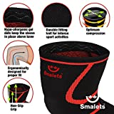Smalets Compression Knee Support Sleeves (1 Pair) –Powerful Joint Protection for Cross Training, Weightlifting, Running & More