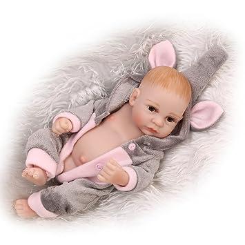 d173f01427769 Decdeal リボーンベビードール 男の子 シリコーンボディー 人形の赤ちゃん おもちゃ 服付き 生き生き かわいい ギフト