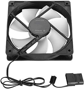 Tonysa Ventilador de Refrigeración Ordenador 120mm PC Caja de la Computadora 12V DC/Enfriador Ventilador 4PIN Grande y Pequeño Interfaz 3PIN Enfriador(Blanco): Amazon.es: Electrónica