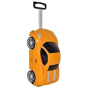 4f0193486 Equipaje Maleta Con ruedas para niños en la forma de coche Viaje caja juguete  adorable 4 colores (Naranja): Amazon.es: Equipaje