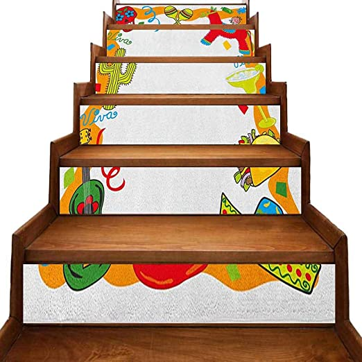 Fiesta - Pegatinas de vinilo para escalera, diseño de dibujos ...