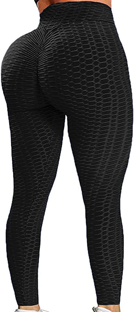 MISS MOLY Women High Waist Yoga Pants Scrunched Booty Leggings Workout Ruched Butt Lift Stretchy Textured Tights