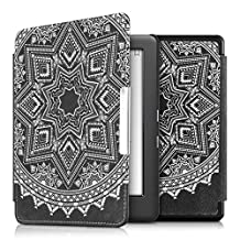 kwmobile Elegant synthetic leather case for the Kobo Glo HD (N437) / Touch 2.0 Design Aztec sun in white black