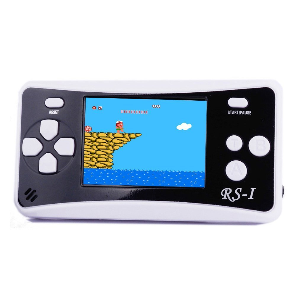 JJFUN RS-1 Handheld Game Console for Children,Retro Game Player with 2.5'' 8-Bit LCD Portable Video Games,The 80's Arcade Video Gaming System,Built-in 152 Classic Old School Games Entertainment-Black