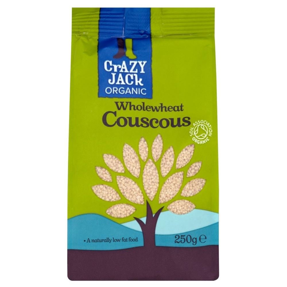 Crazy Jack Organic Wholegrain Couscous (250g) - Pack of 6