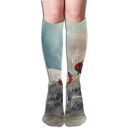 d4b4fe92697 Image Unavailable. Image not available for. Color  ABOUtshoc Knee High Long  Socks White And Black ...