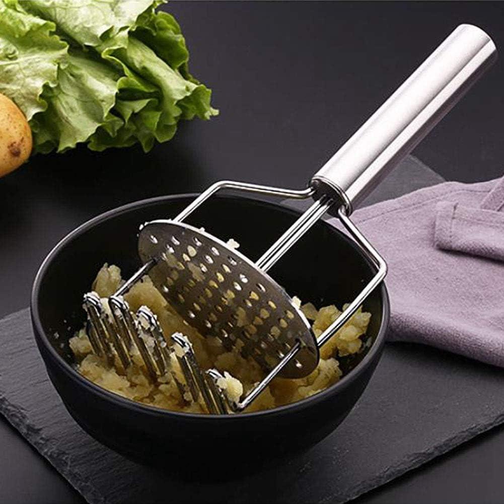 Patata Ricer y trituradora acero inoxidable Durable doble capa Cocina Patata prensatelas Masher Ricer Pur/é de papas Dispositivo