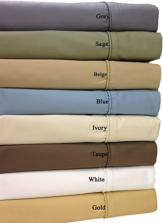 Wrinkle-Resistant 650 Thread Count Cotton Blend Sheet Set with 22/' Deep Pockets