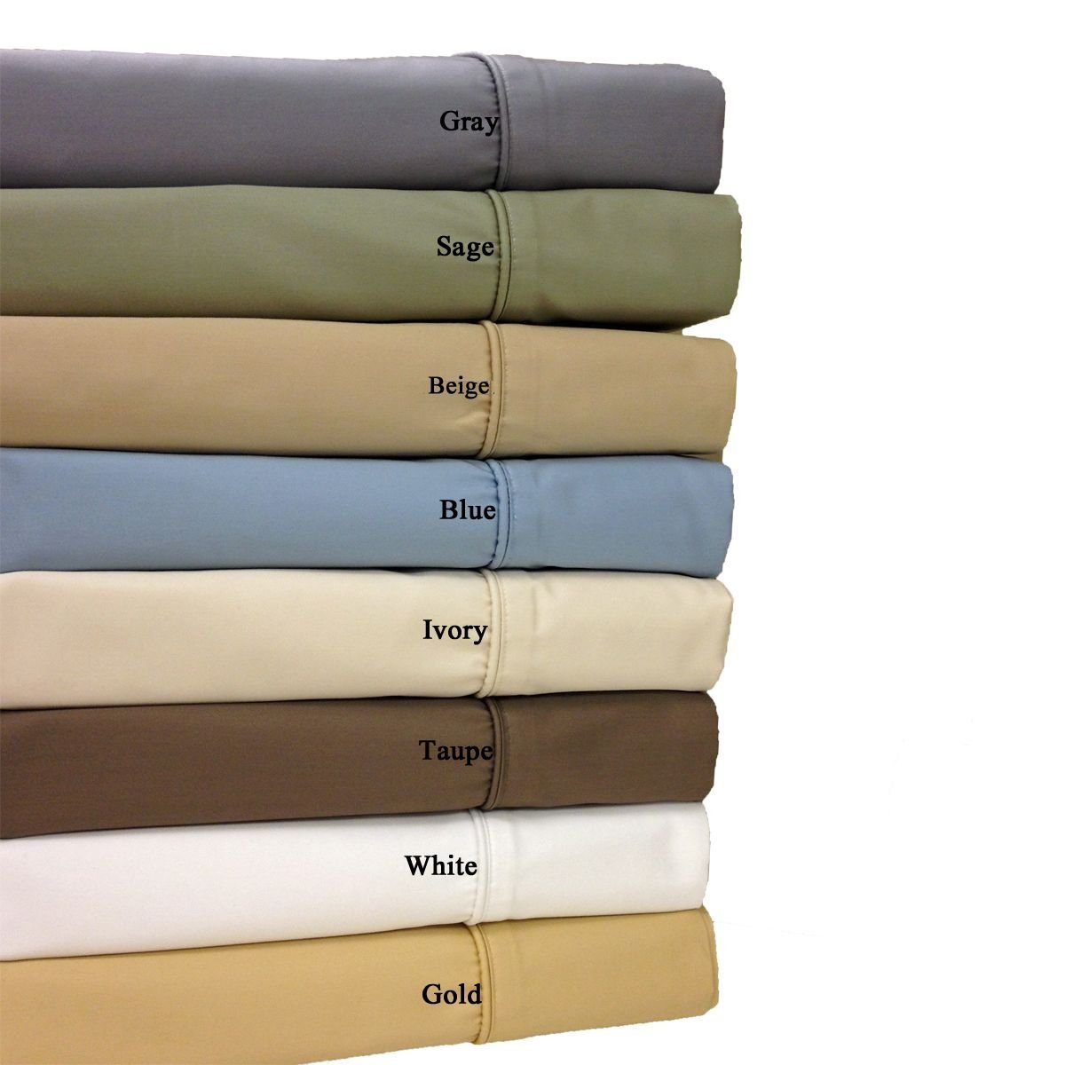 Top-Split-King: Adjustable King Size Ivory 650-Thread-Count Solid Sheet Set, Cotton-Blend Wrinkle-Free Sheets