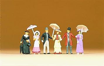 Exclusive Figure Set 6 Preiser 12139 Passers By Summer 1900