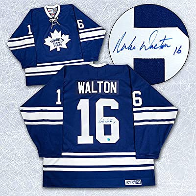 Mike Walton Toronto Maple Leafs Autographed 1967 Stanley Cup Retro CCM  Jersey - Signed Hockey Jerseys 54dbddab1