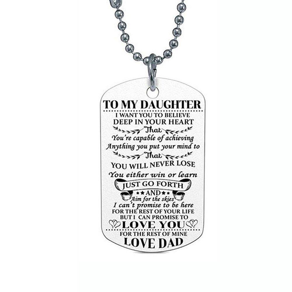 Gbell Clearance! 女の子 男の子 ヒップホップ ネックレス ジュエリー チャーム - レトロチェーン トレンド ネックチェーン ペンダント 娘 息子 子供 女性 男性 誕生日プレゼントに B07HYJ3RZ2 For Daughter For Daughter
