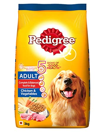 Buy Pedigree Adult Dry Dog Food, Chicken & Vegetables, 3kg Pack