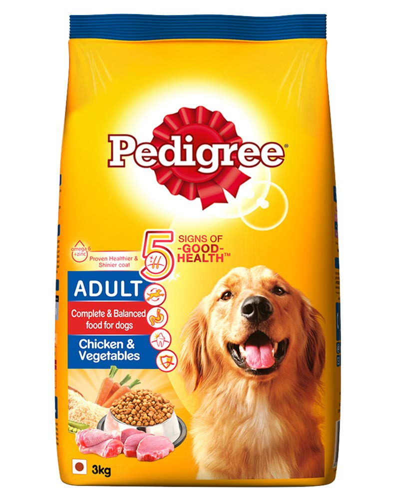 Pedigree Adult Dry Dog Food, Chicken and Vegetables, 3kg Pack product image