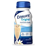 Ensure Original Nutrition Shake with 9 grams of protein, Meal Replacement Shakes, Vanilla, 8 fl oz (6 Count)
