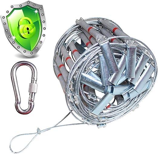 BMJ&C Escape - Cuerda de Alambre de aleación de Aluminio para Escalera de Emergencia, Rescate de Incendios,
