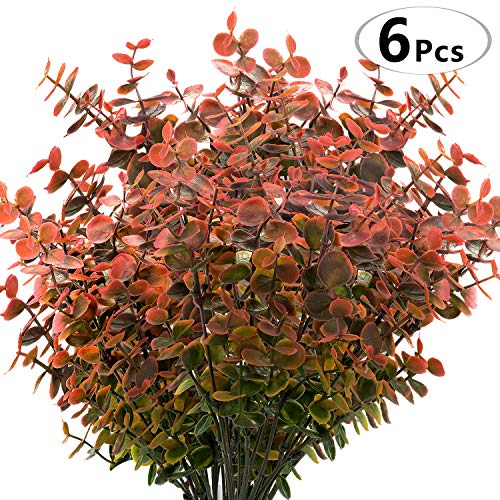 Everflora Artificial Boxwood Stems (Pack of 6) Faux Plants
