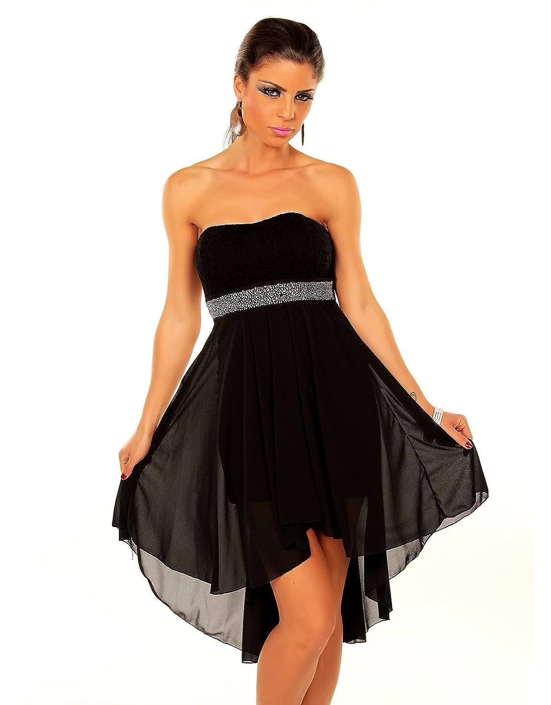 Few24 Chiffon Bandeau Cocktailkleid mit Spitze Kleid Sexy Kleid ...