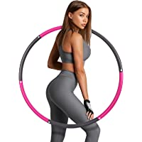 Hoelahoep-fitness, Sinocare gewogen hula hoop afneembare fitness-hoepel met schuim, slimme hoelahoep voor volwassenen…