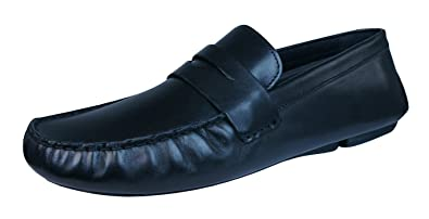 6a7a5d928de Red Tape Cranfield Mens Leather Slip On Loafers Shoes-Black-9
