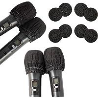 Paquete de 200 fundas desechables para micrófono no tejidas cubierta de micrófono de mano cubierta protectora para KTV…