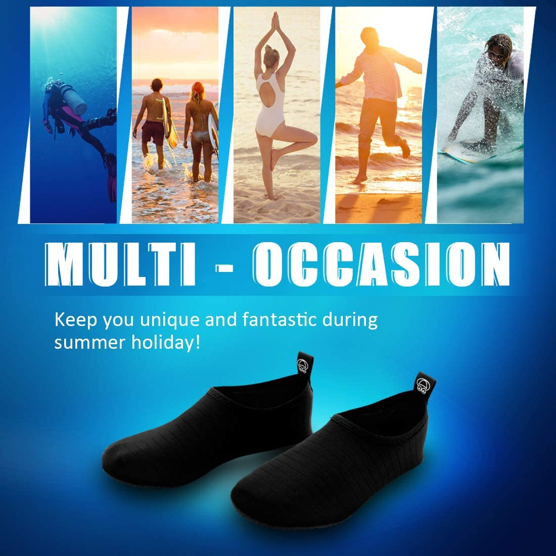 BONUIT Water Shoes for Women and Men Quick Dry Barefoot Aqua Socks Non Slip Sports Shoes for Beach Swim Surf Yoga