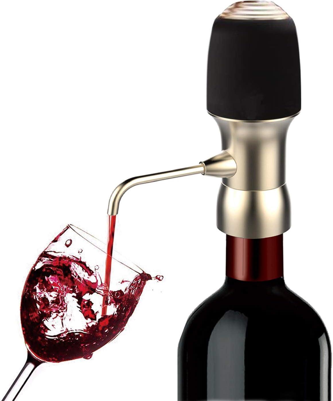Aireador de vino eléctrico, spedal One-Touch portátil decantador de vino, vino accesorios, práctico boquilla, mejorar vino sabor de todas las edades, aprobado por la FDA, caja de regalo: Amazon.es: Hogar