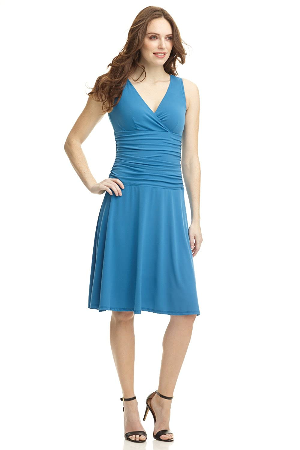 Rekucci Women\'s Slimming Sleeveless Fit-and-Flare Tummy Control ...
