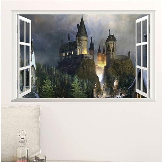 Shuyinju Cartel Decoración De Ventana 3D Hogwarts Pegatinas ...