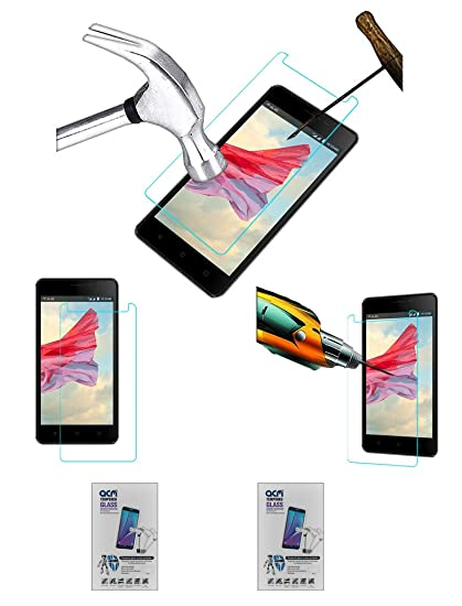 Acm Pack of 2 Tempered Glass Screenguard Compatible with Lyf Wind 4s Screen Guard Scratch Protector Screen Protectors