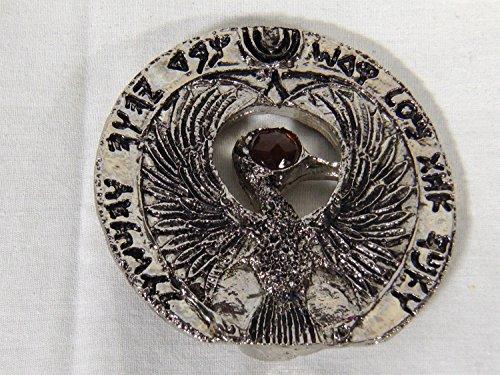 Indiana Jones, Staff of Ra, Egyptian German Headpiece, Antique Silver, Solid Metal
