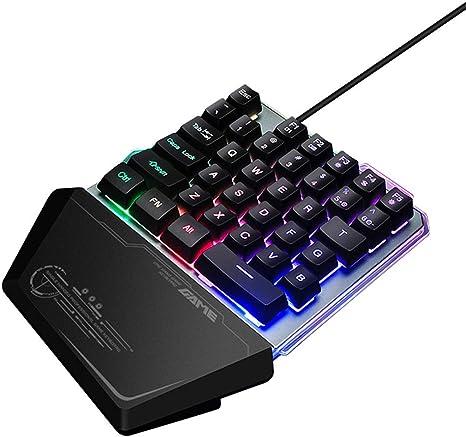 ZXX. Teclado mecánico para Juegos RGB de una Mano, Teclado de ...