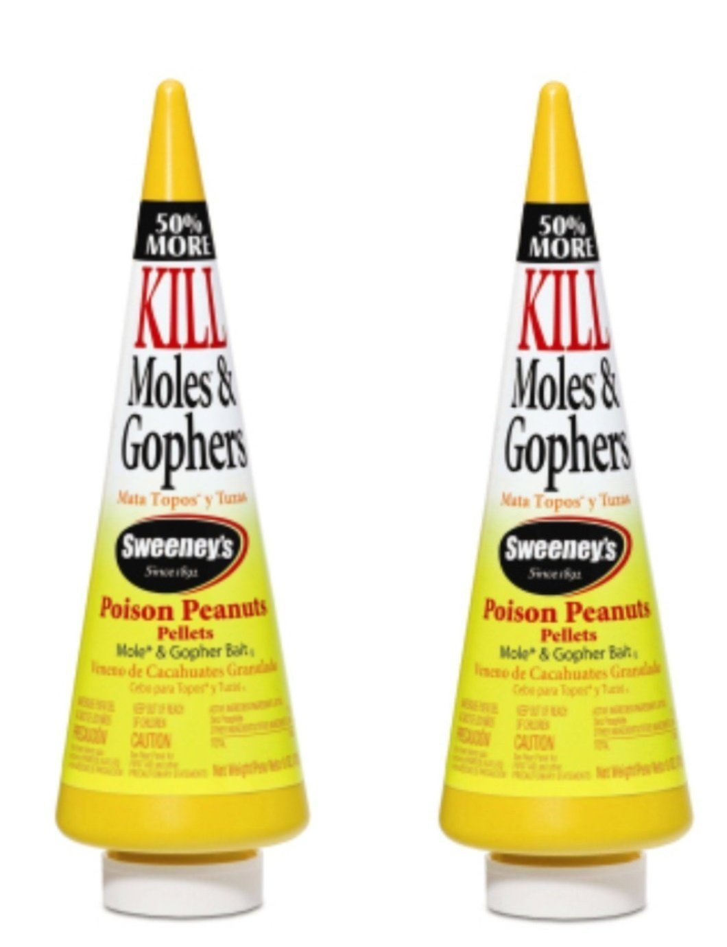 Sweeney's Mole and Gopher Poison Peanuts Bait 6 Ounce (Pack of 2) by Sweeney's