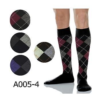 TrAdE shop Traesio®® 12 Pares de Calcetines de Hombre Largos Algodón Cálido con Rombos Varios Colores A005 - 4: Amazon.es: Electrónica