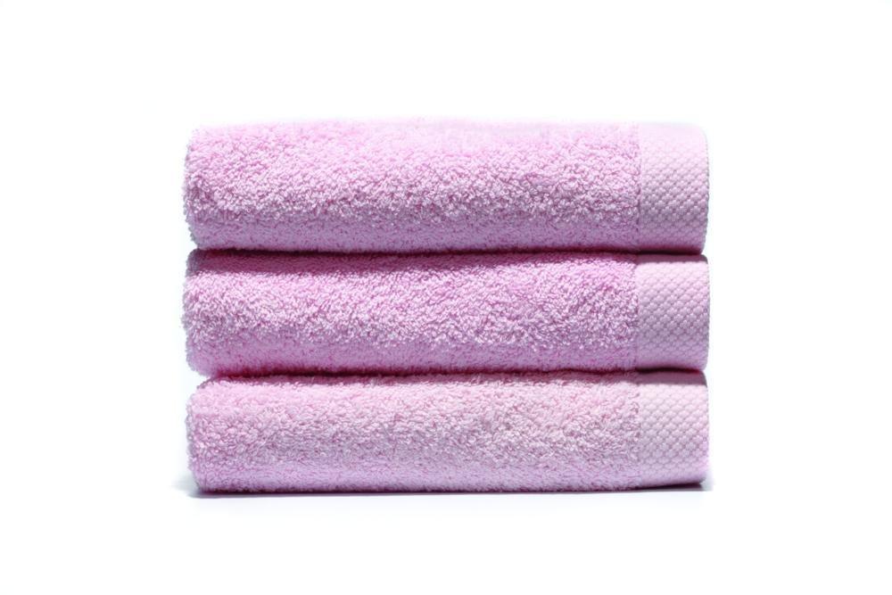 Home Basic - Juego de 3 toallas para tocador, 33 x 50 cm, lavabo, 50 x 100 cm y baño, 100 x 150 cm, color rosa: Amazon.es: Hogar