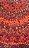 India Arts 81 inch Round Tablecloth Indian Mandala Print