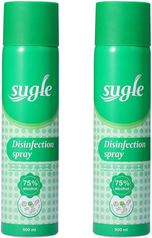 Sugle Antibacterial Disinfectant Spray - Kills 99.9% Harmful Germs and Bacteria, Sanitizing, 75% Alcohol-Based Home, Hospital Use