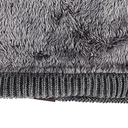 caliente de tamaño gorro de sombreros holgados hombre slouchy un Gorro ocio forrado Invierno paquete de Moda de para esquí khaki Grey 3 punto elasticidad de wH8vXxdq