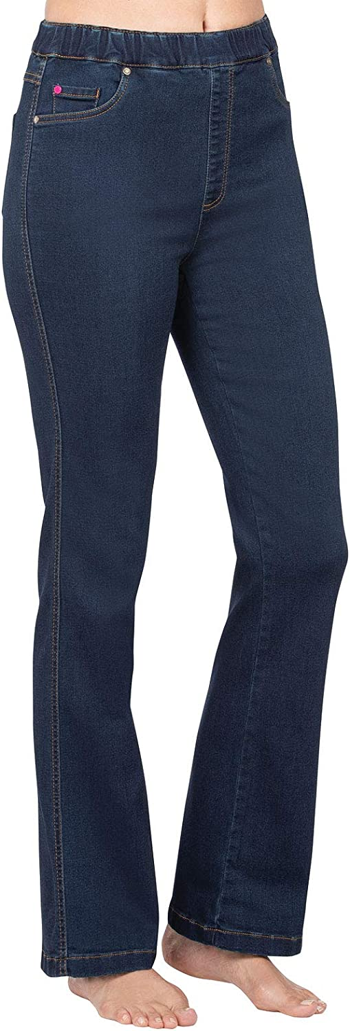 PajamaJeans Womens High Waisted Jeans - Bootcut Jeans for Women, Stretch Denim