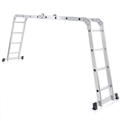 MAXCRAFT 82654489 - Escalera multifunción (multi-propósito) de andamio, ajustable y plegable